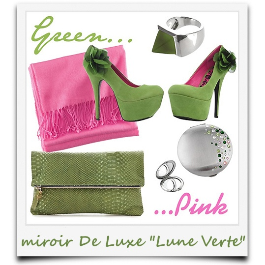 """j'ai du style avec le miroir chic """"Lune Verte"""""""