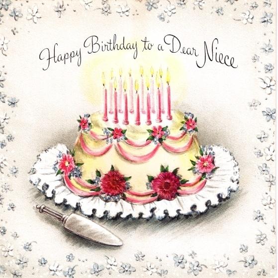 Открытки, винтажные открытки с тортом