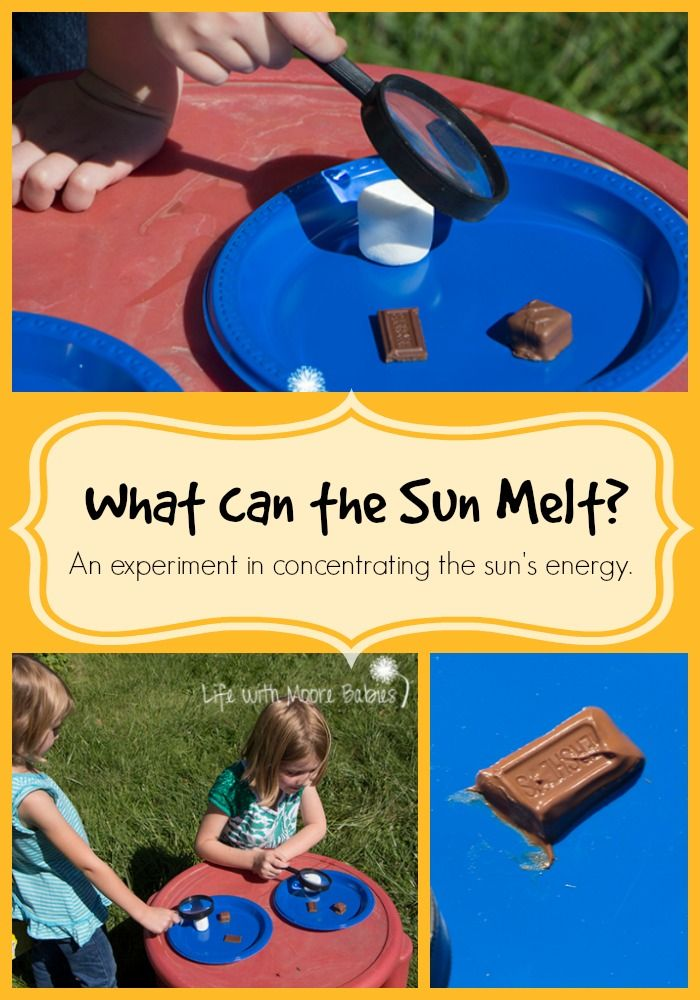 Life with Moore Babies: What can the Sun Melt? An Experiment in Concentrating the Sun's Energy