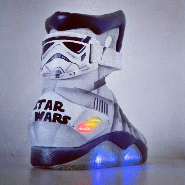 online store 3643c bc753 ... The Star Wars Nike Air Mag custom   DOPE KICKS   Pinterest   Nike air  mag ... air max 90 ...
