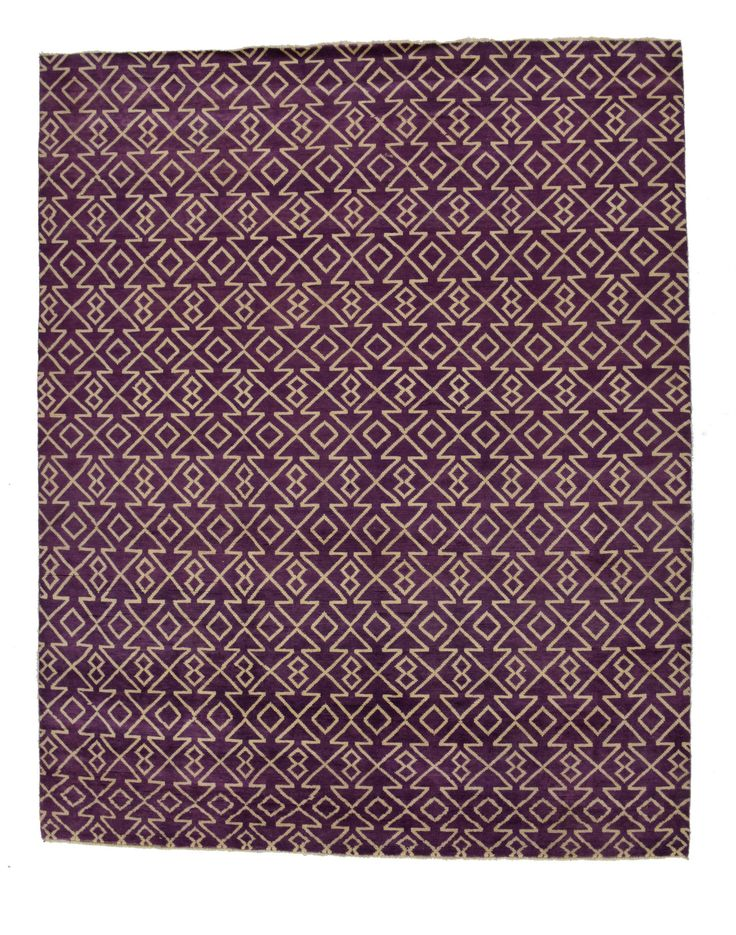 8x10 Purple Modern Area Rug