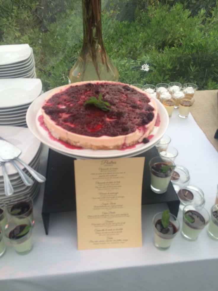 Cheesecake de Berries en buffet de postres