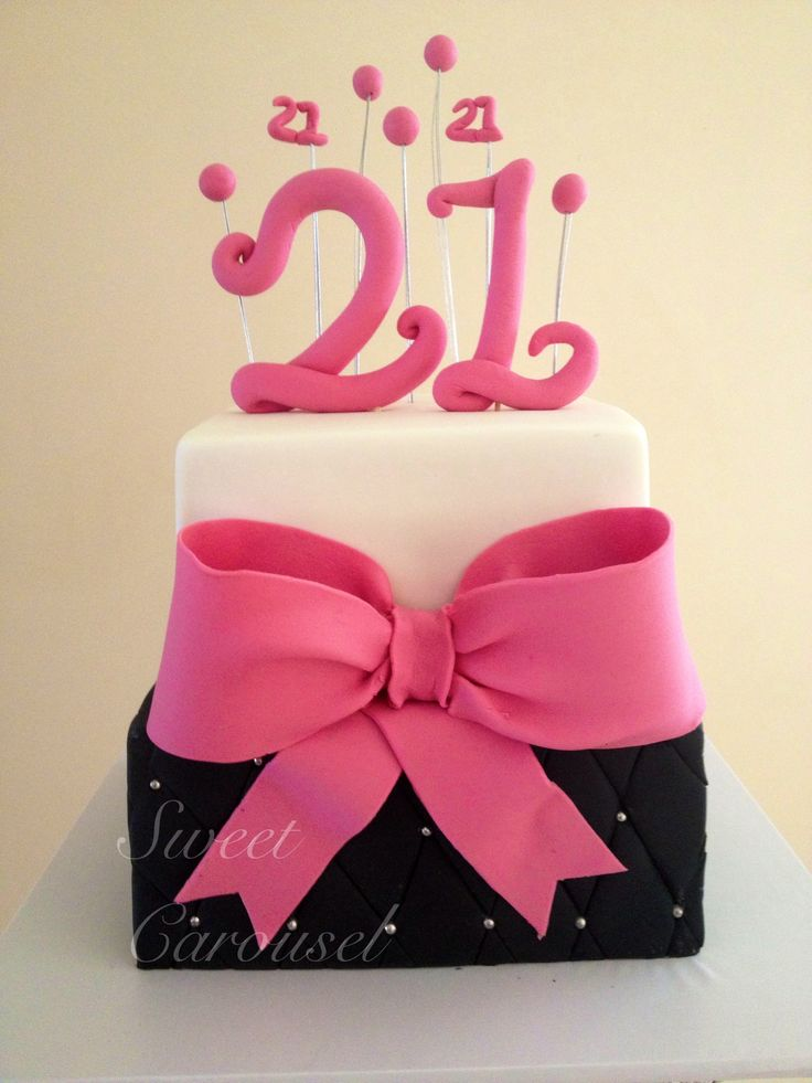 21st Cake by Sweet Carousel