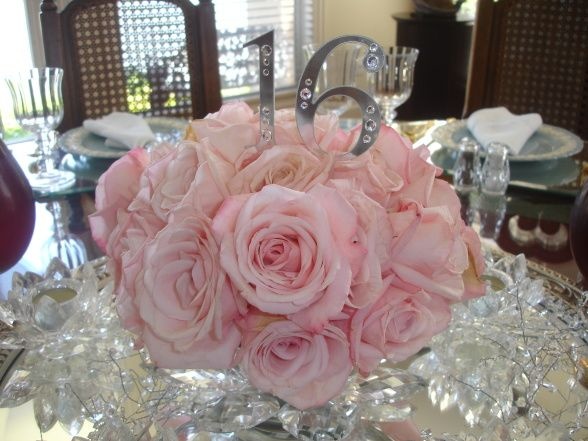Sweet 16 Table Centerpiece Ideas Sweet Sixteen Our Oldest