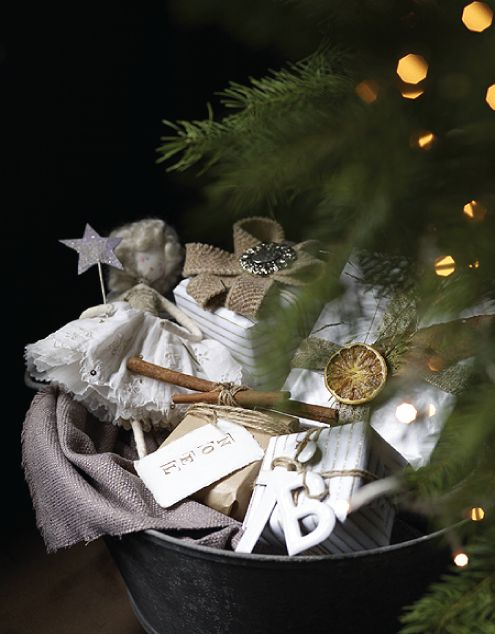 gifts in a galvanized bucket