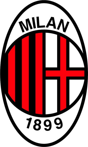 AC MILAN badge used in the 1986 - 1998