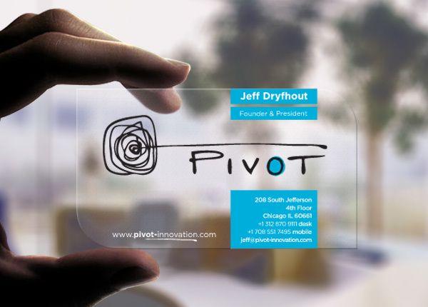 Pivot Innovation Branding by PKG in 50 Business Cards for Inspiration