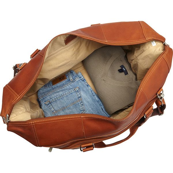Piel Extra Large Zip-Pocket Duffel - Saddle - Travel Duffel Bags ($315) ❤ liked on Polyvore featuring men's fashion, men's bags, bags, filler, tan, mens travel bag, men's duffel bags, mens leather duffle bag, mens leather travel bag and mens leather bag