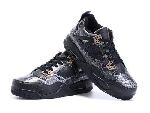 Air Jordan 4 Pinnacle Serpentine Men Shoes Black,Price:$50