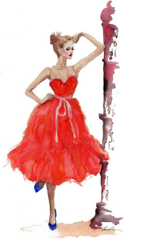 sketchOrange Crushes, Fashion Sketches, Red Dresses, Dresses Shoes, Inslee Haynes, Art, Fashionillustration, Fashion Illustration, Sketches Book