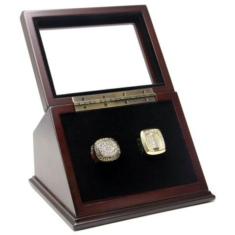 NHL 1986 1993 Montreal Canadiens Stanley Cup Championship Replica Fan Rings with Wooden Display Case Set, use coupon 'PTC' to save 10%
