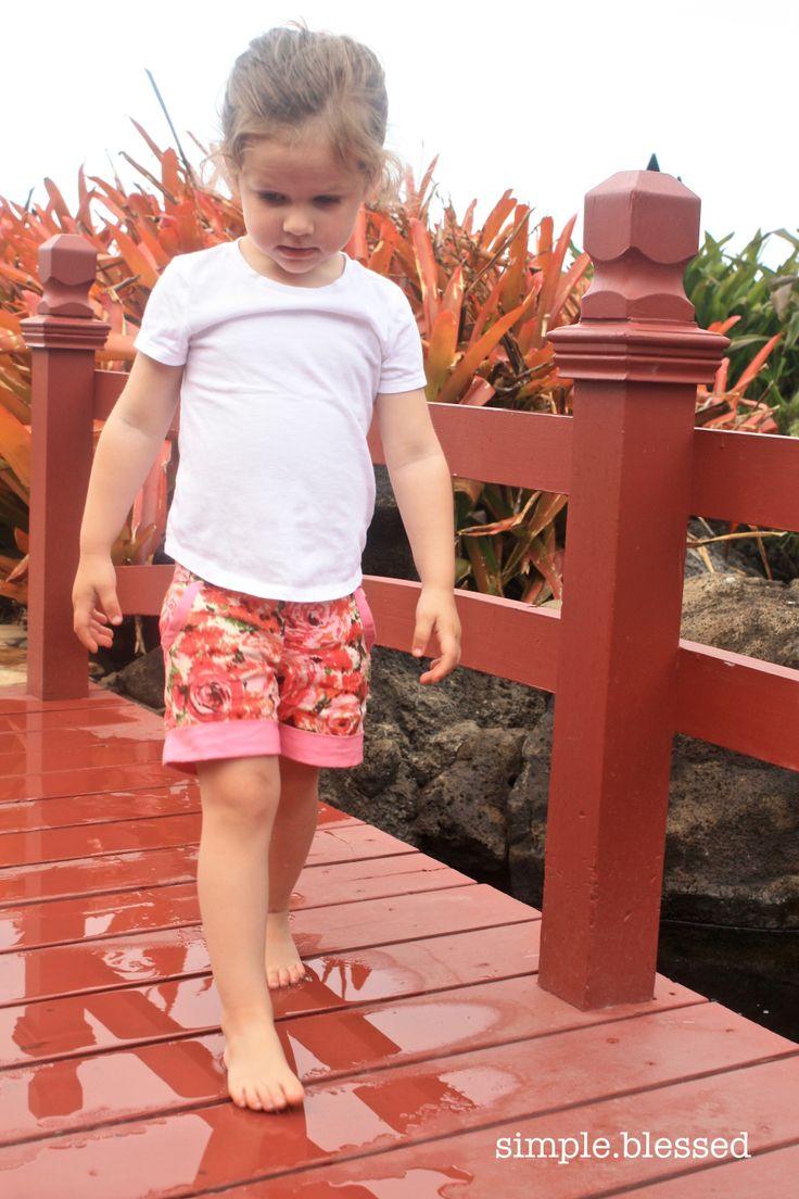 Girls Honeybun Shorts Pattern Emporium Blog Tour Simple. Blessed.