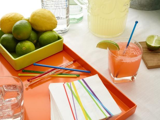Easy Tabletop Ideas for Summer Parties from FoodNetwork.com: Identify Drinks A, Charms Idea, Decorating Ideas, Table Setting, Decoration Ideas, Photo, Party Ideas, Angle Tabletop Ideas