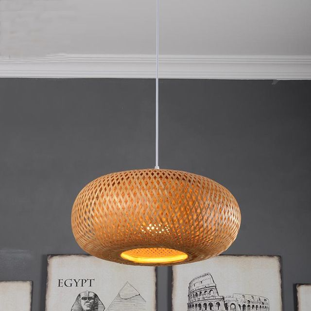Moderne Eetkamer Droplight Tuin Verlichting Hanger Lampen Bamboe Lantaarn Woonkamer Kroonluchter Lichten