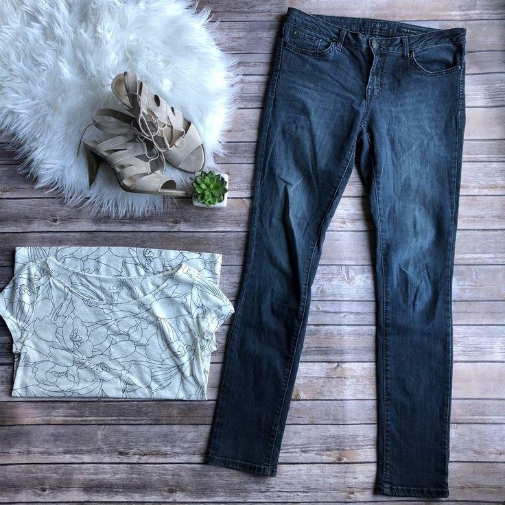 Jessica Simpson Womens 29 Forever Skinny Jeans Dark Wash Stretch Jeans #JessicaSimpson #SlimSkinnystretch