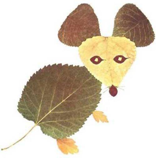Come creare un topo con le foglie autunnali