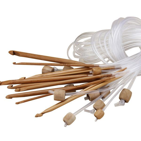 Afghan Carbonized Bamboo Knitting Needle Crochet Hooks