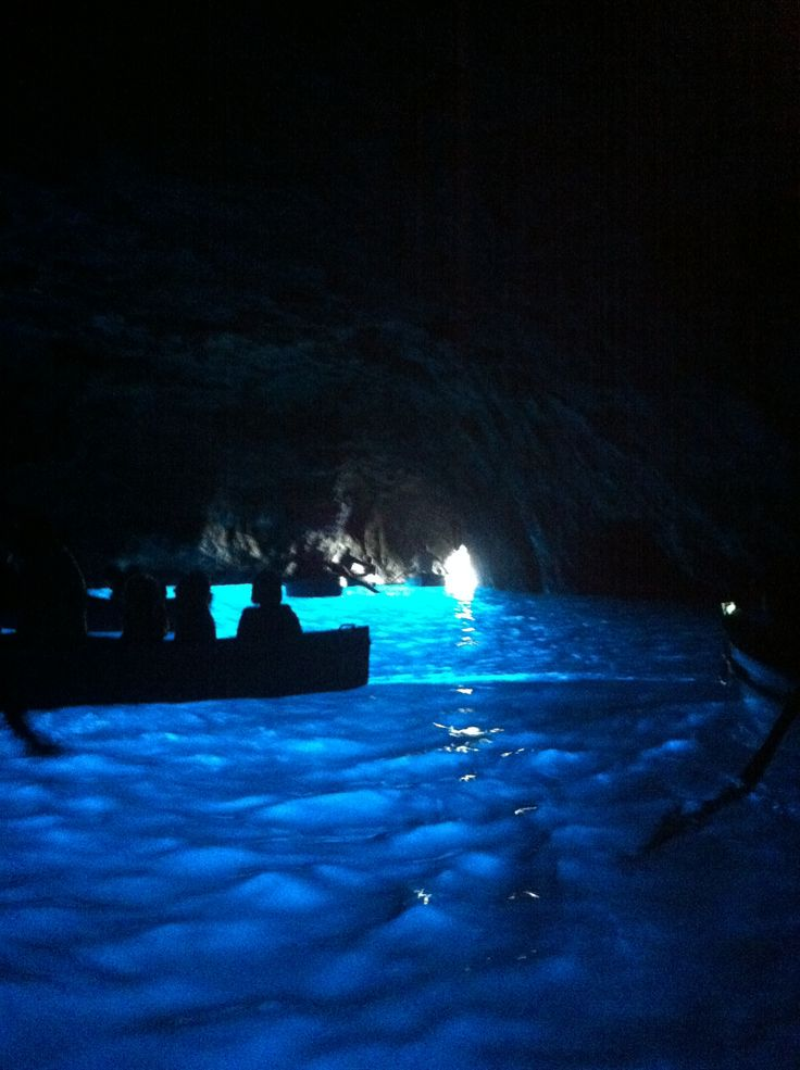 Blue Grotto in Capri, Italy