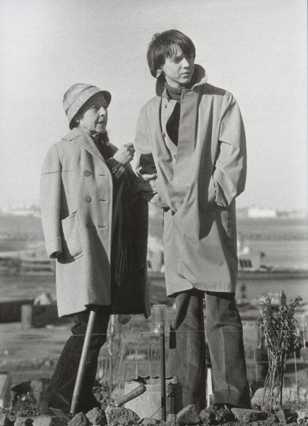 Behind the scenes.    http://harold-and-maude.tumblr.com/page/9