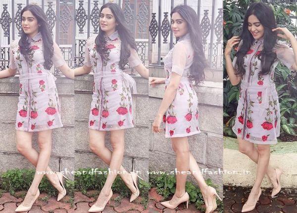 Adah Sharma in Printed Floral Gown