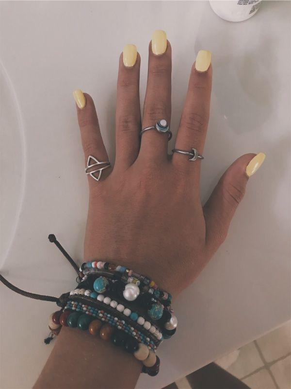 Vsco Brenleestewarttt Yellow Nails Nail Accessories Yellow Nail Art