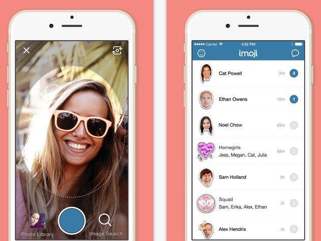 Imoji, app para crear stickers a partir de una imagen, acaba de incorporar mensajería instantánea