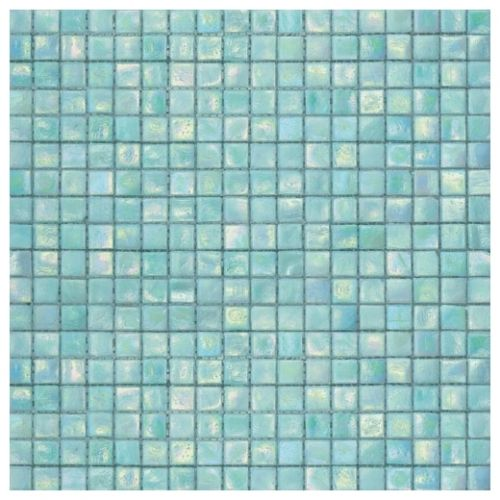 Fern 1 - Deep teals and greens make up this wonderful spa-like mosaic tile. Will enhance any living space!