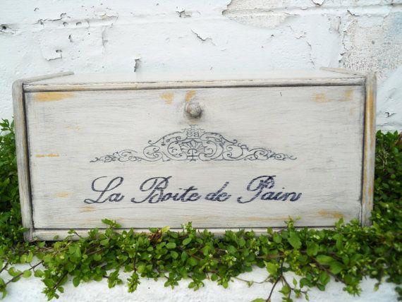 French Vintage Bread Box