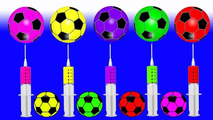 Learn Colors with Soccer Balls Injection Syringe JOHNY JOHNY Yes Papa FI...