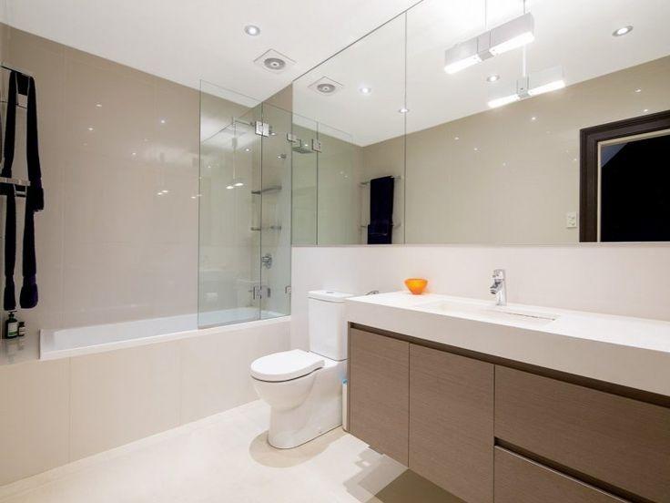 banheiro, branco, bege, marrom  Bathroom Design  Pinterest -> Banheiro Pequeno Branco E Marron