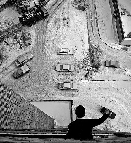 A man and his toys..  this is just too reminiscent of andre kertesz's work.
