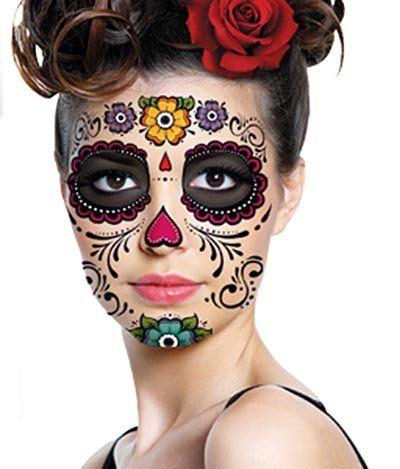 Sugar Skull Full Face Temporary Tattoo (Heart & Flowers) #119 Fake Tattoos http://smile.amazon.com/dp/B00GP2OELI/ref=cm_sw_r_pi_dp_y4Ykub1ZX9MTE