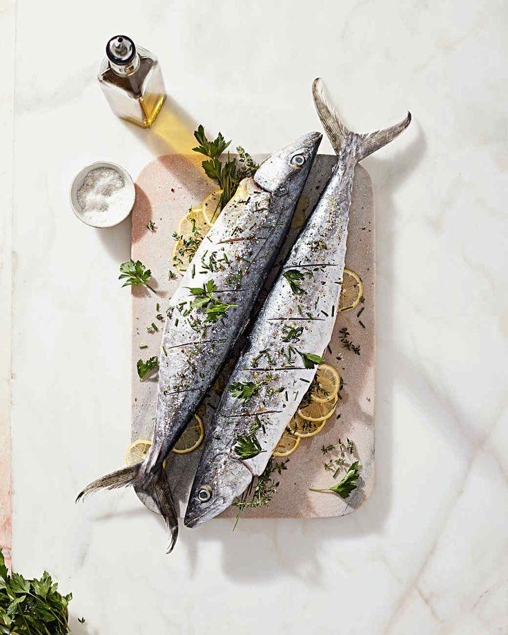 whole roasted mackerel