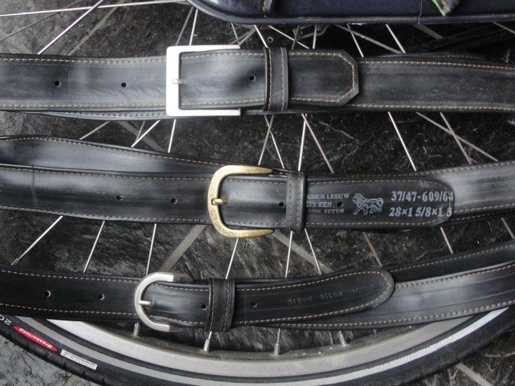 Centuren van binnenband van een fiets