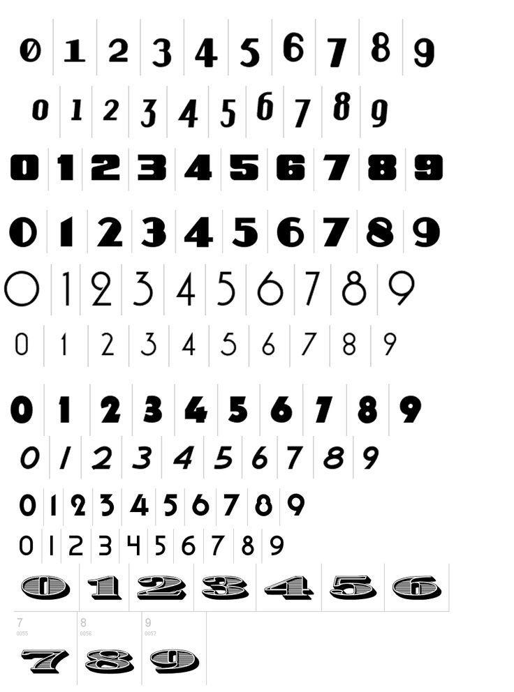 30 Zahlen Schrift Ideen In 2021 Zahlen Schrift 7