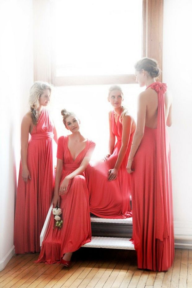 Be a Fashionable Bridesmaid – Wear a Dress from The 2014 Collections , Coral Bridesmaid Dresses