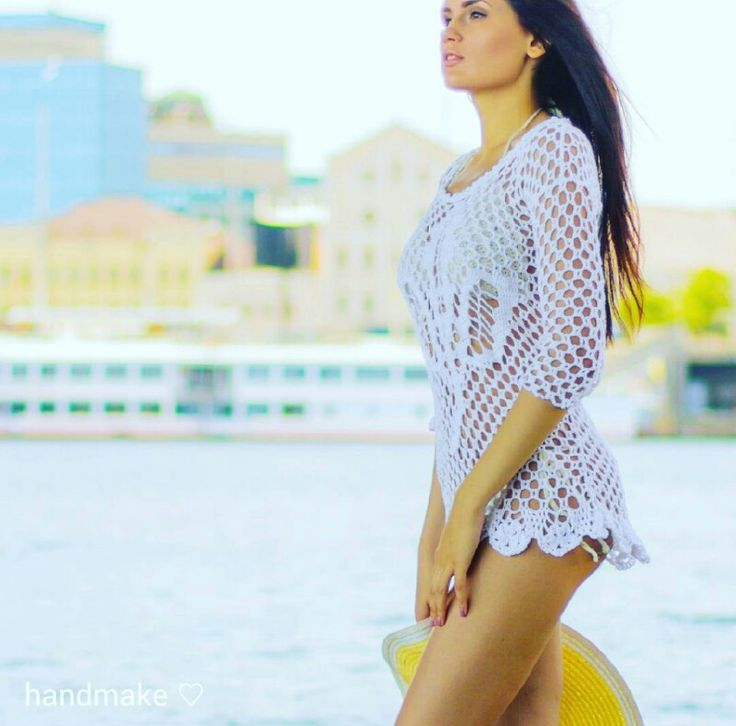Хлопоковая пляжная туника. В наличии. #handmake #crochet #instacrochet #dress #tunik #handmade #lace #white #beachwear #summer #forewoman #style #fashion #etsy #туника #платье #ажур #длянее #мода #стиль #ручнаяработа #пляжнаямода #лето2014