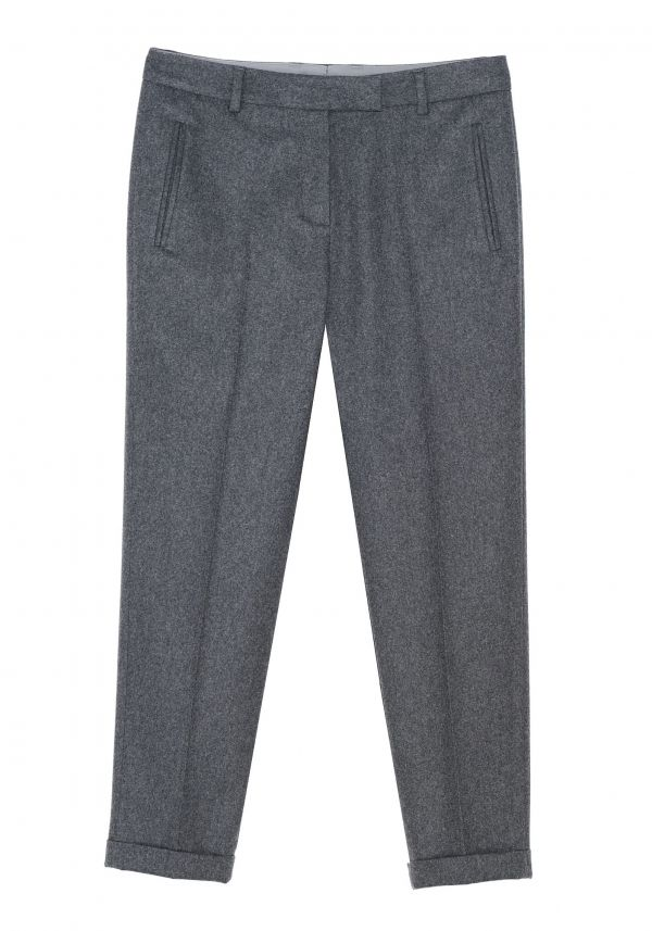 QL2 - PIPER CROPPED WOOL FLANNEL STRAIGHT PANT  (SOMETIMES GRAY IS NOT A MIDDLE GROUND BETWEEN WHITE AND BLACK) #women's #fashion