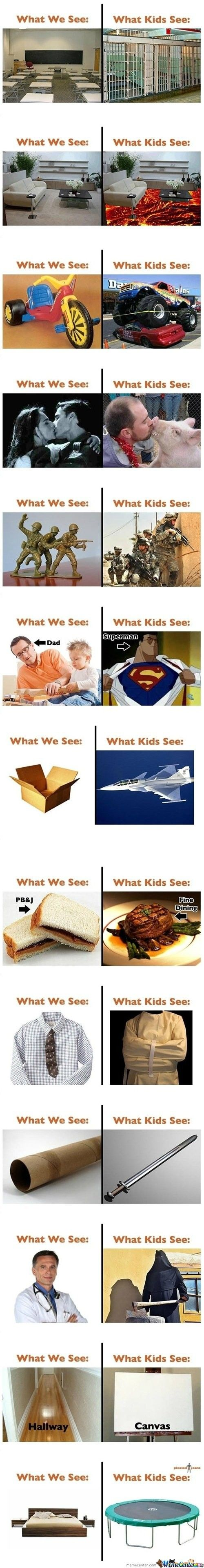 What adults see vs what kids see - Little White Lion