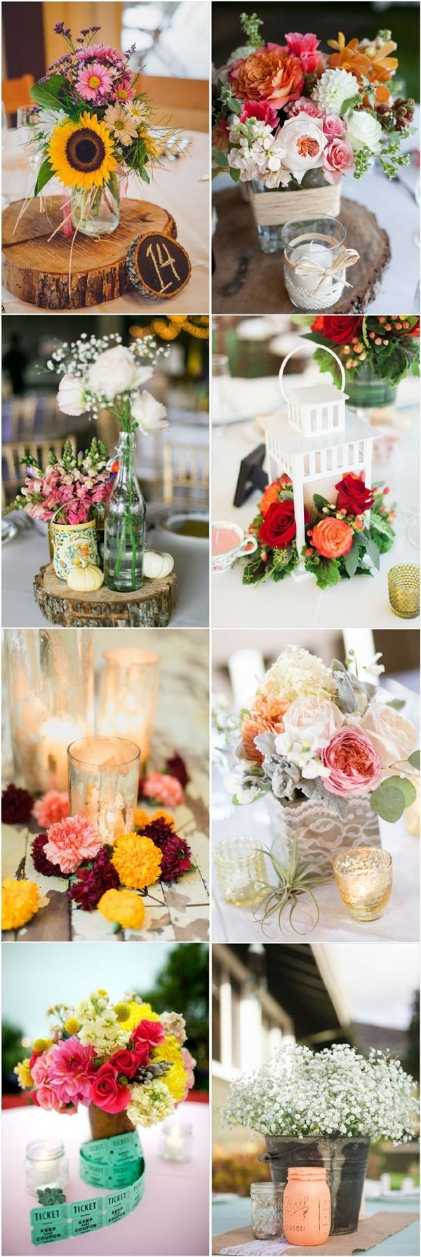 chic rustic wedding centerpiece decor ideas | Deer Pearl Flowers