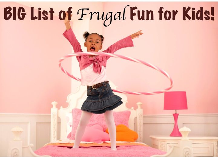 BIG List of Frugal Fun Ideas for Kids! {no more 'I'm bored!' with these creative ideas!} ~ from TheFrugalGirls.com #kids #activities #crafts