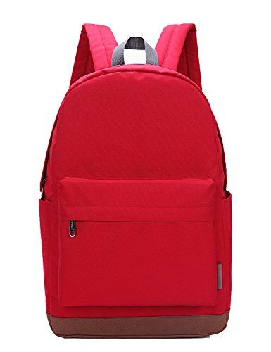 TINYAT Backpack Book Bag Travel Daypack Canvas Nylon Red >>> Continue to the product at the image link.