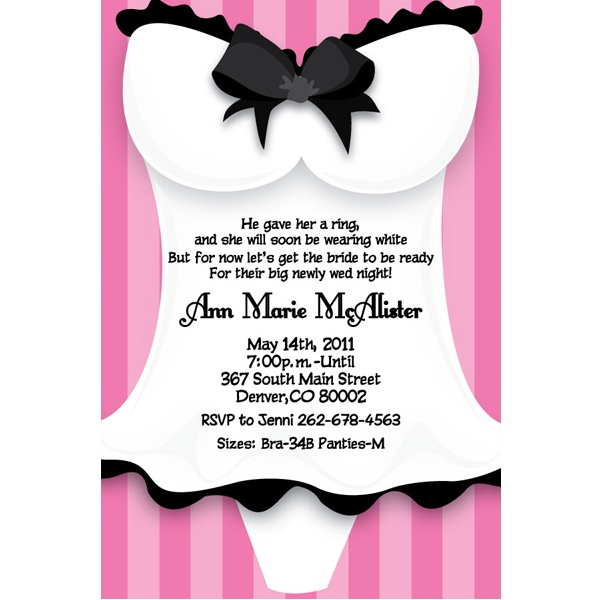 89 best images about Party ideas – Lingerie Party Invite