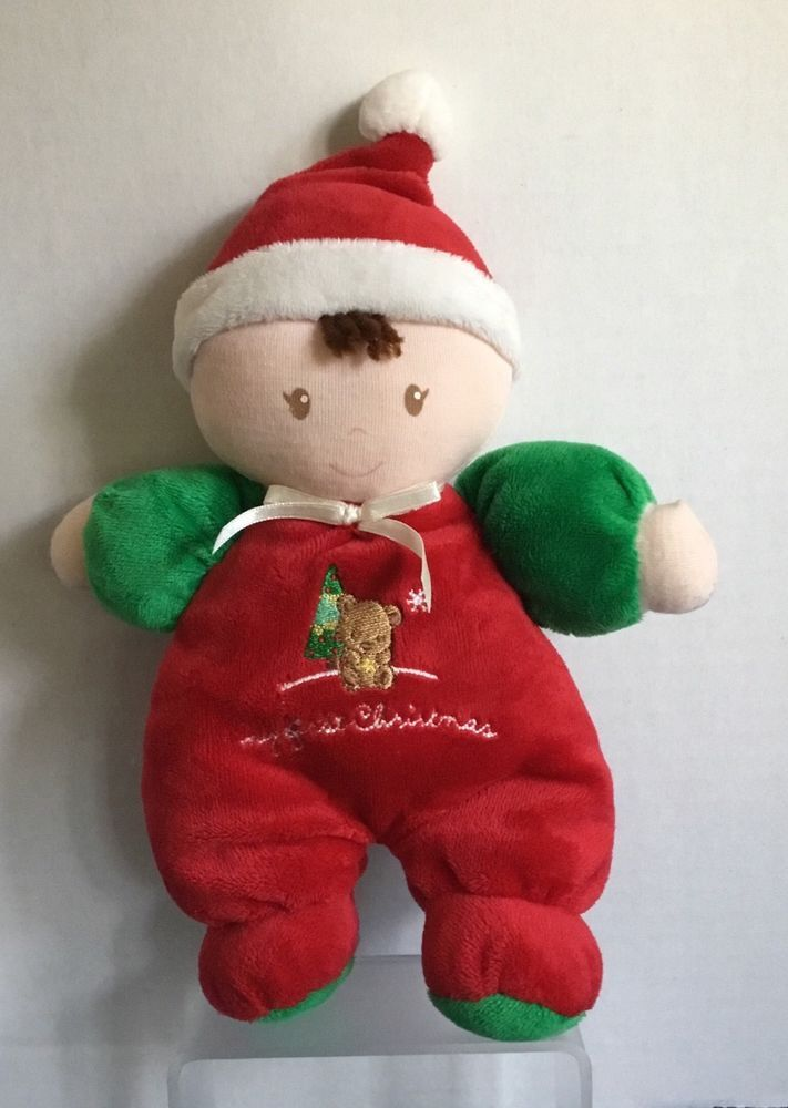 "Child of Mine Carters My First Christmas Plush Toy Lovey 88488 Rattle 9"" #Carters"