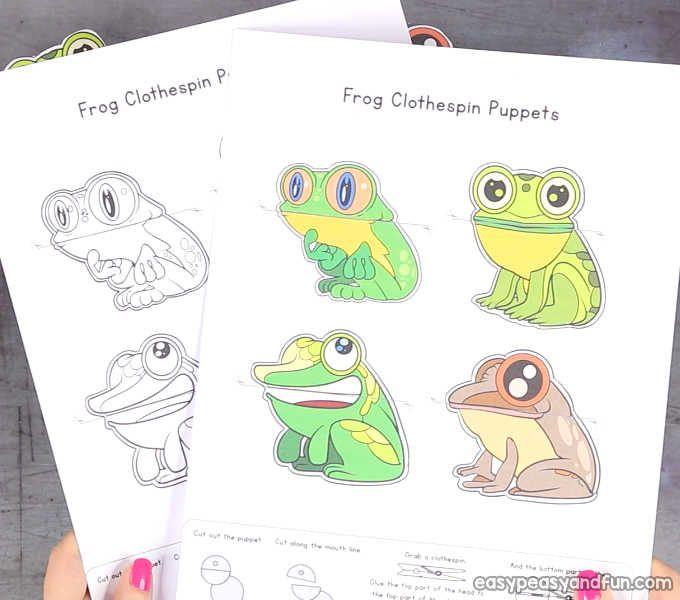 Frog Clothespin Puppets Easy Peasy And Fun Loisir Creatif Enfant Creations De Maternelle Dessin Enfant