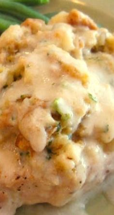 Stuffing-Topped Pork Chops. Pork chops are such a great comfort food, and this recipe is so easy to make!