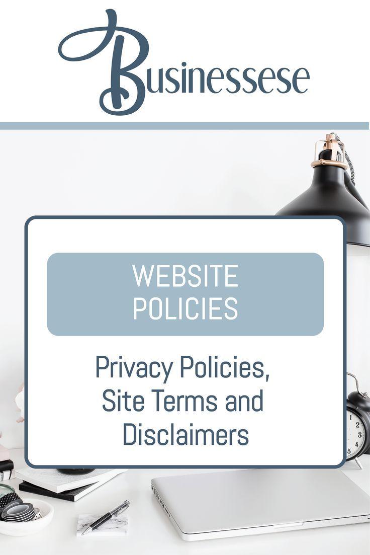 Website Policies Bundle Diy Templates For Website Owners Website Owner Policies Online Business