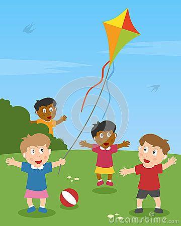 pictures of children flying kites   Kite Kids