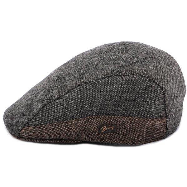 Casquette Plate Port Grise et Marron Bailey Le style Bailey sur Hatshowroom.com #casquette #chapeau #bonnet