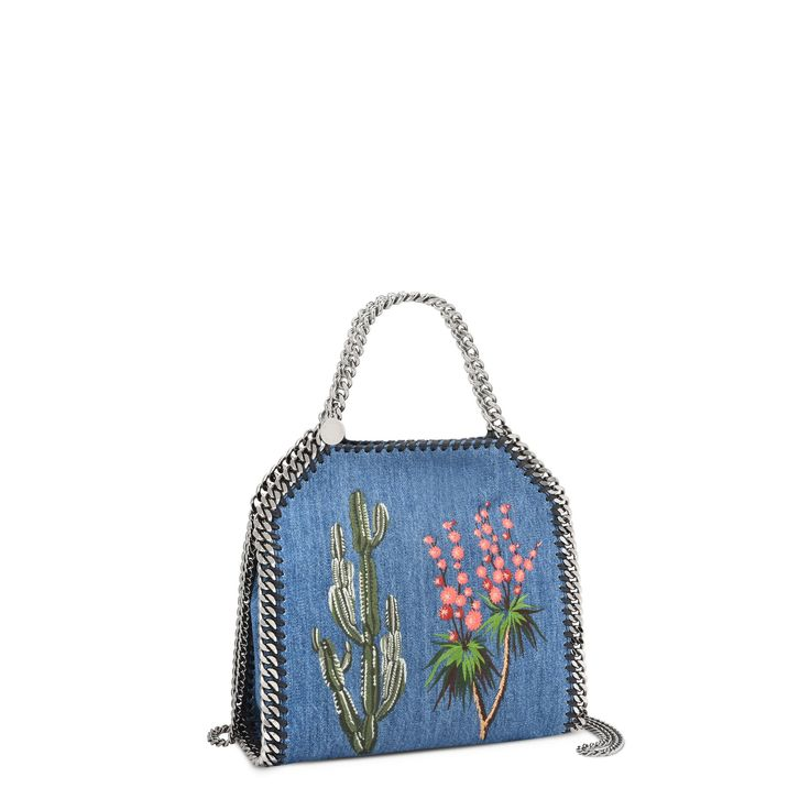 Mini sac Falabella en denim brodé   - STELLA MCCARTNEY